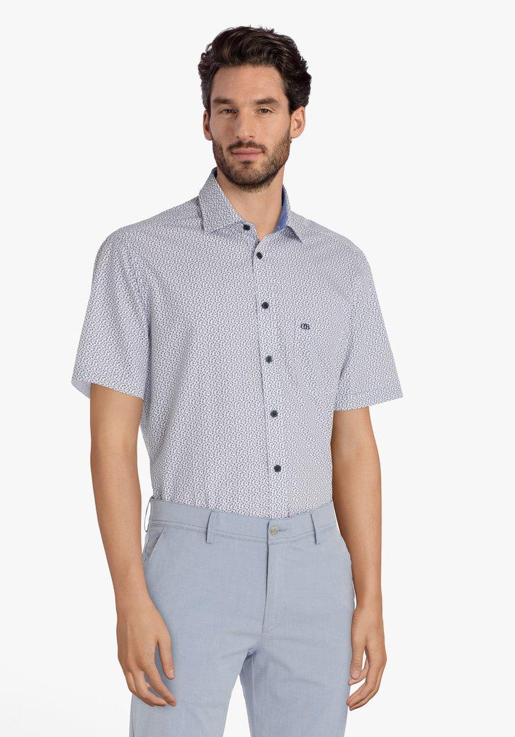 Chemise blanche à bateaux bleus - regular fit