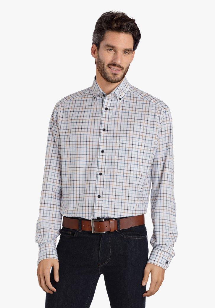 Chemise blanche à carreaux - comfort fit