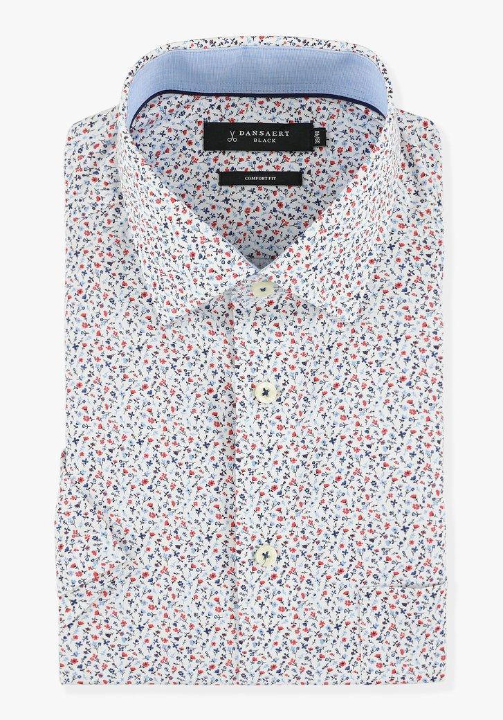 Chemise blanche à fleurs - comfort fit