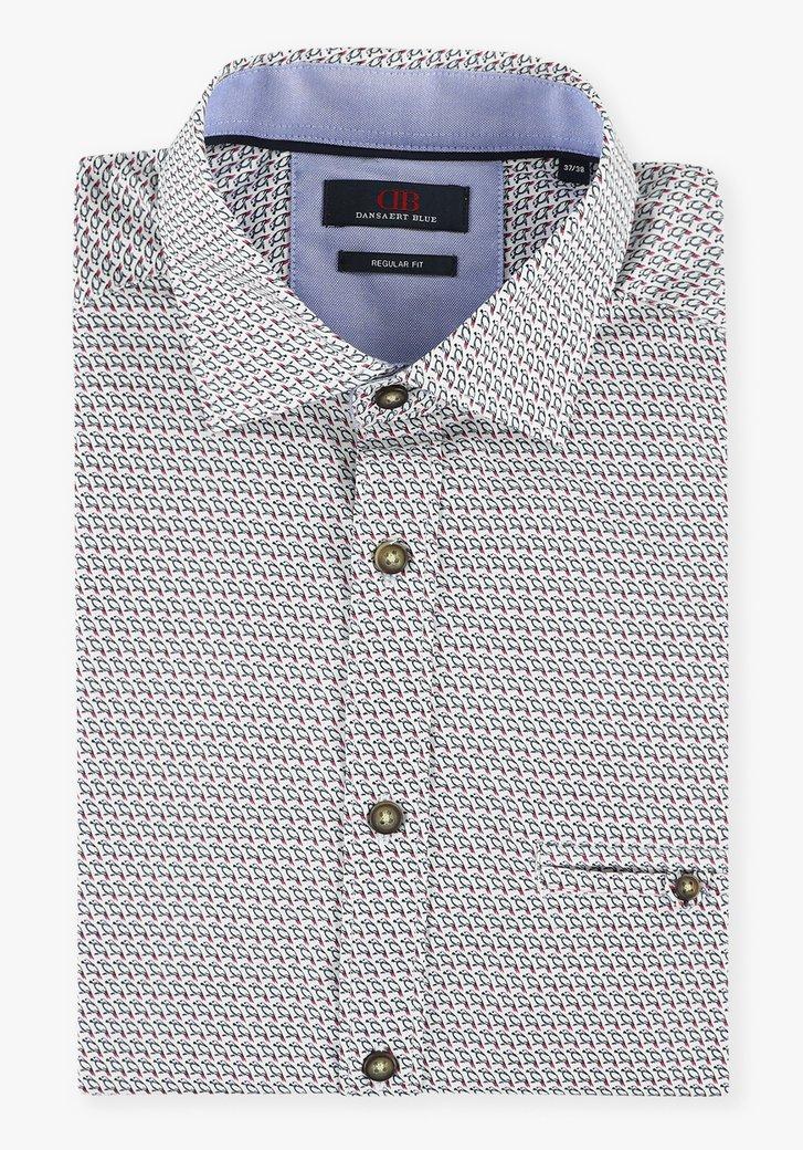 Chemise blanche à imprimé oiseaux - regular fit