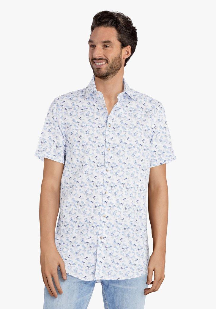 Chemise blanche à imprimé palmier - regular fit
