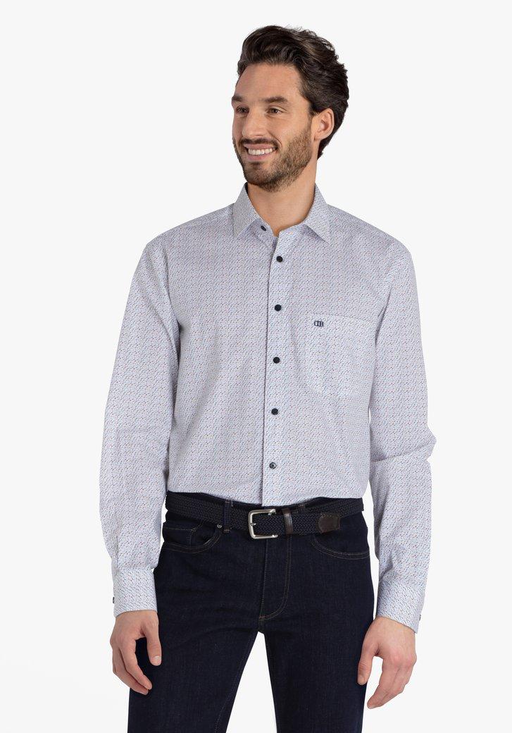 Chemise blanche à imprimés colorés - comfort fit