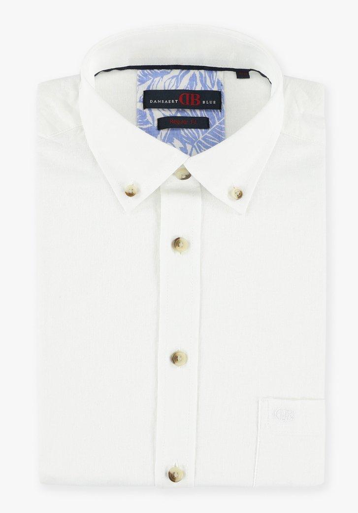 Chemise blanche à manches courtes - regular fit
