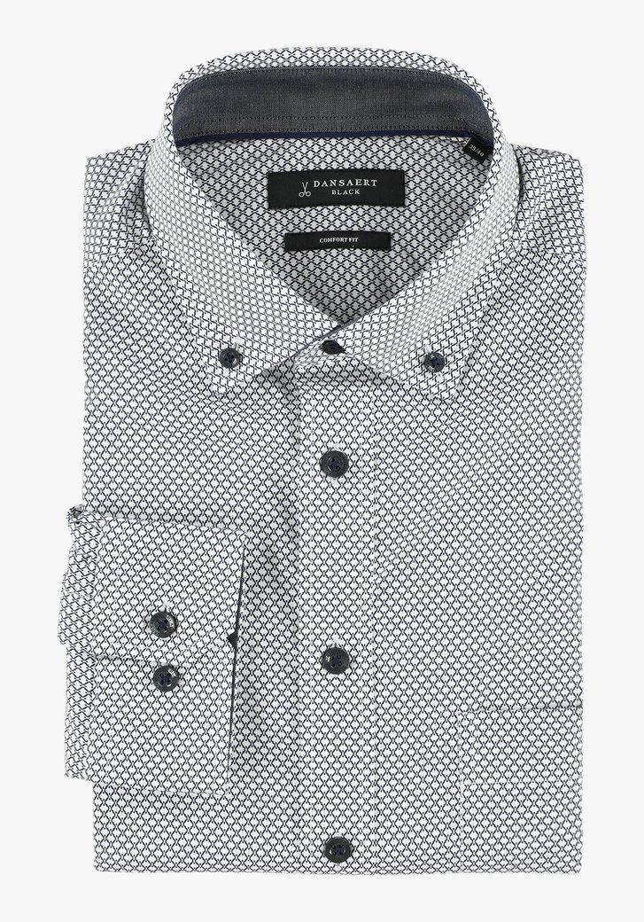 Chemise blanche à motif géométrique - comfort fit