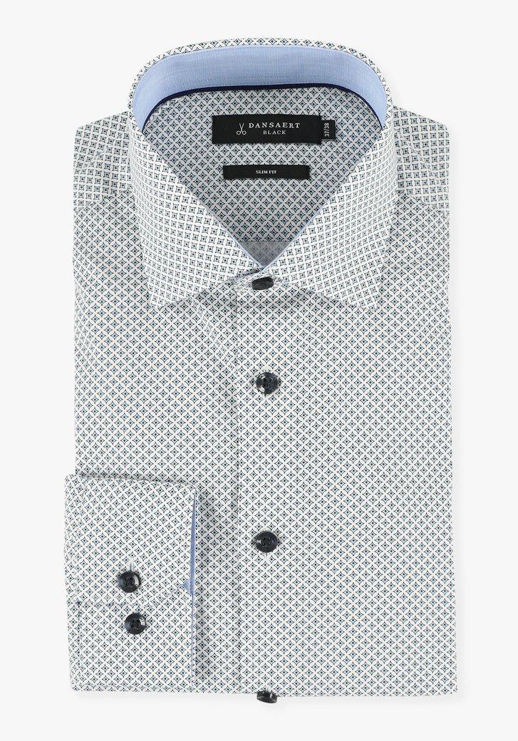 Chemise blanche à motif géométrique - slim fit