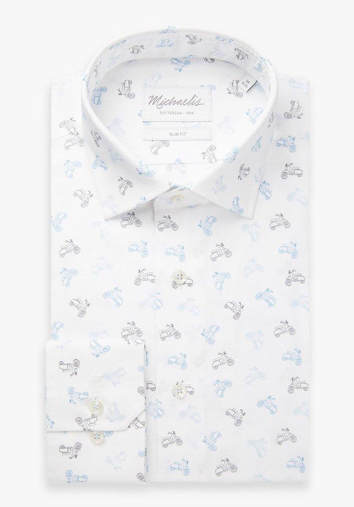 Chemise blanche avec des trottinettes