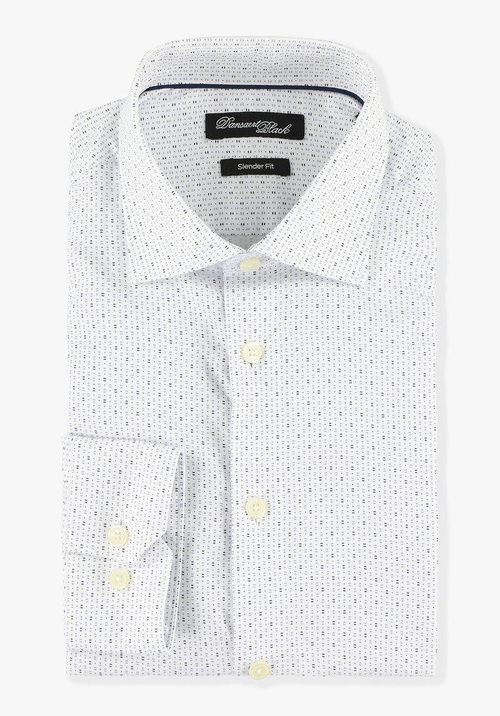 Chemise blanche avec impression - slender fit