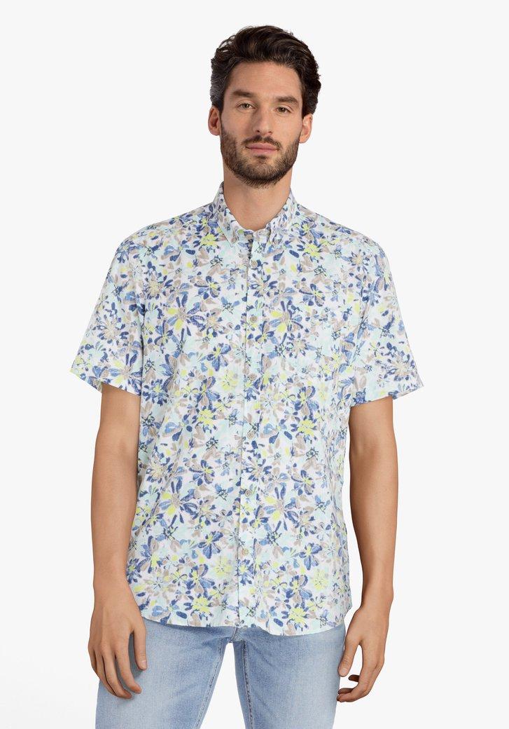 Chemise blanche avec imprimé à fleurs