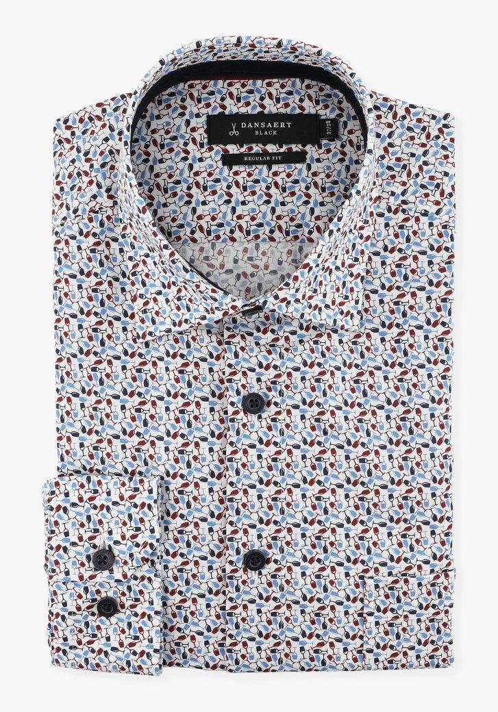 Chemise blanche avec verres à vin - regular fit