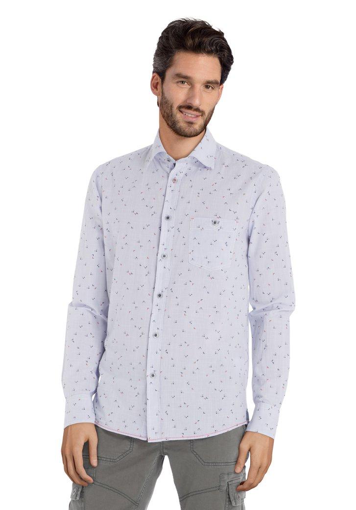 Chemise bleu clair à motif bleu – regular fit