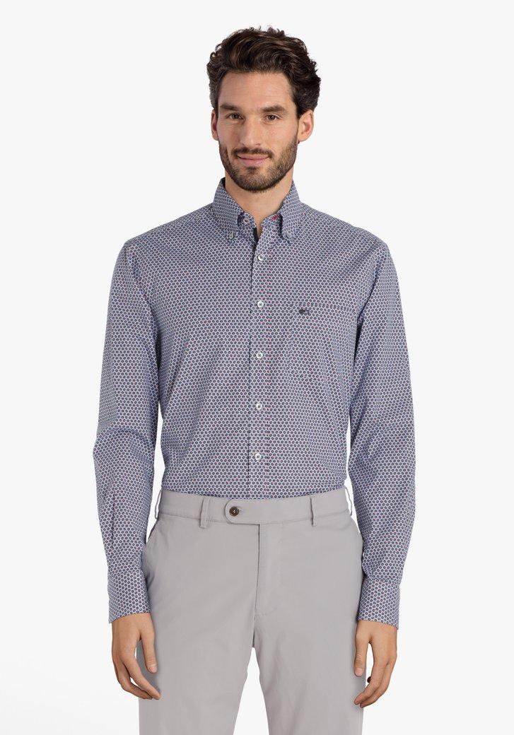 Chemise bleu clair à motif - regular fit