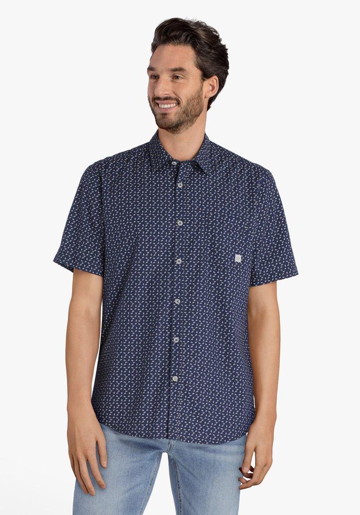 Chemise bleu marine à plumes – regular fit