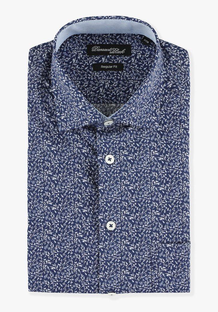 Chemise bleu marine & manches courtes -regular fit