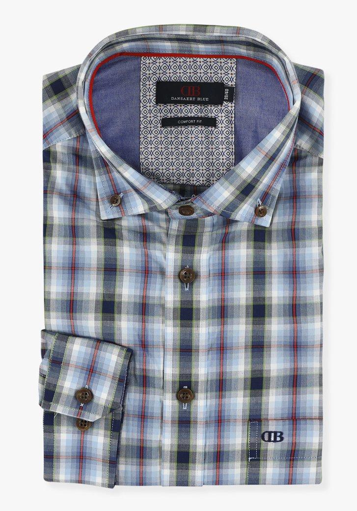 Chemise bleue à carreaux - comfort fit