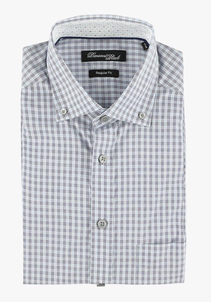 Chemise bleue à carreaux - regular fit