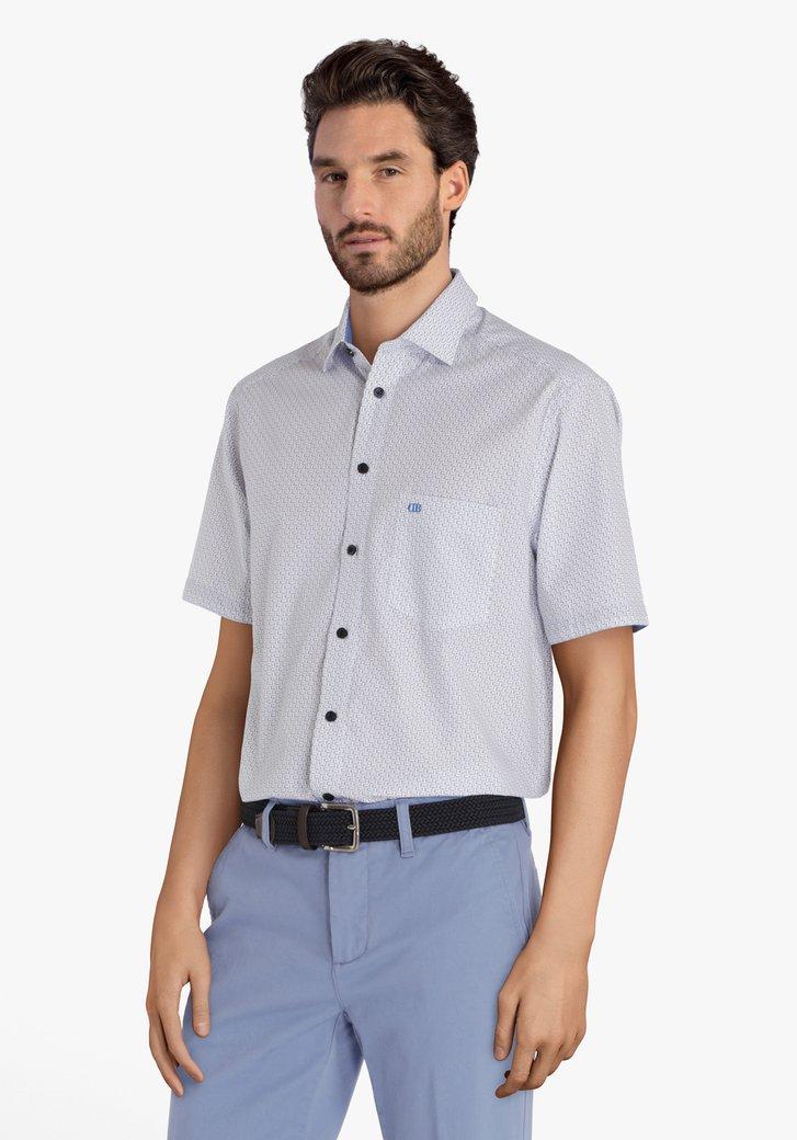 Chemise bleue à petit motif - comfort fit