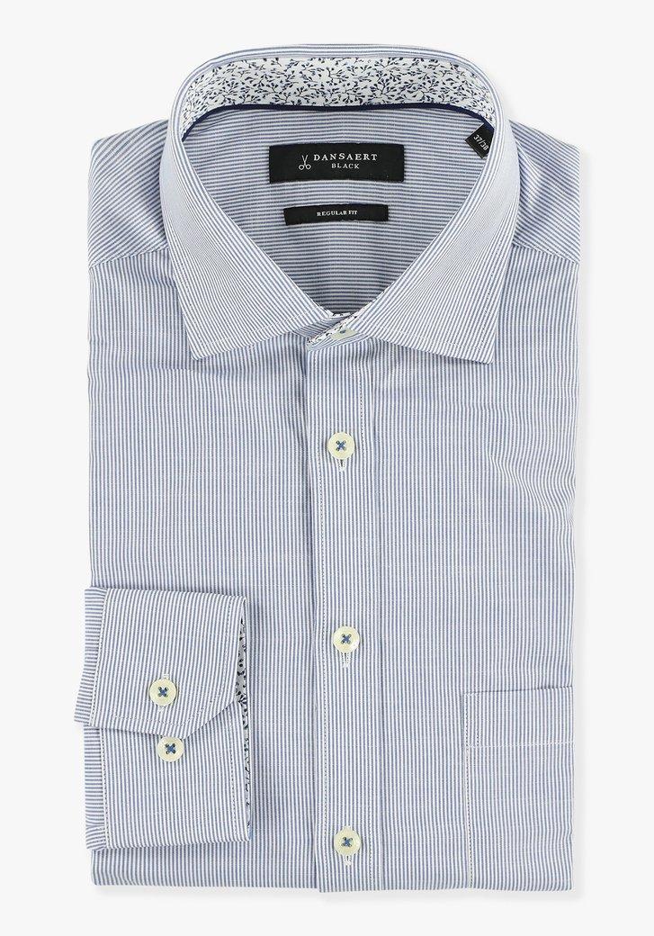 Chemise bleue clair à rayures - regular fit