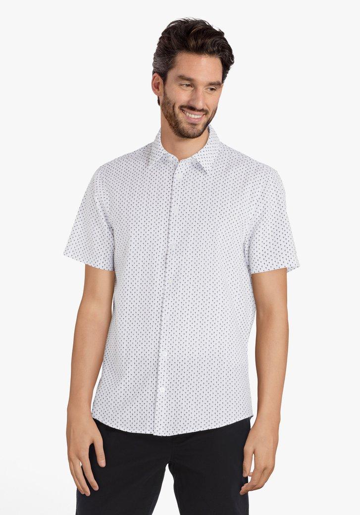 Chemise grise à imprimé palmier