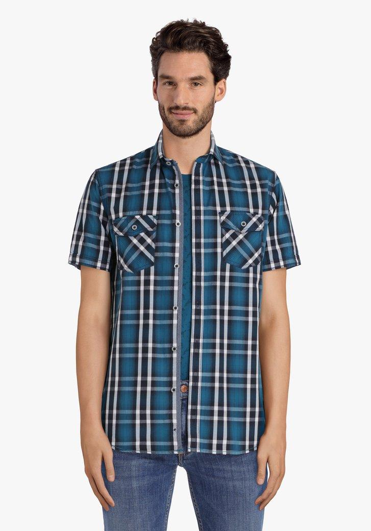 Chemise vert foncé à carreaux – regular fit