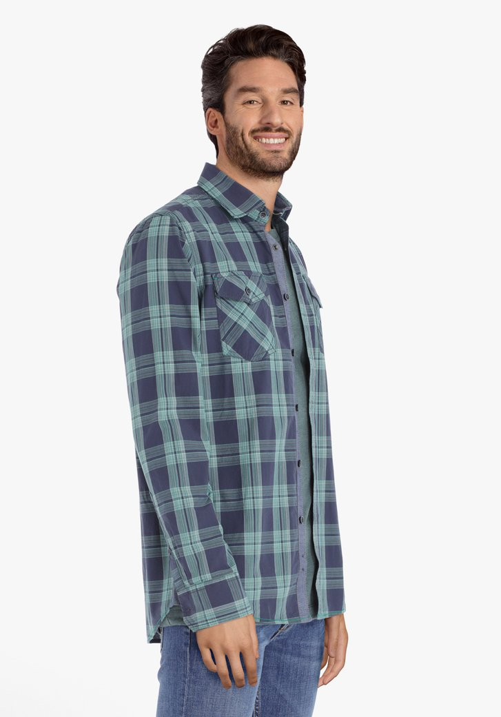 Chemise verte à carreaux – regular fit
