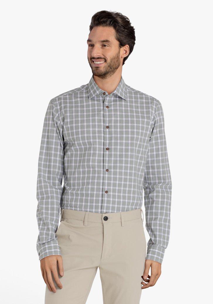 Chemise verte à carreaux – slim fit