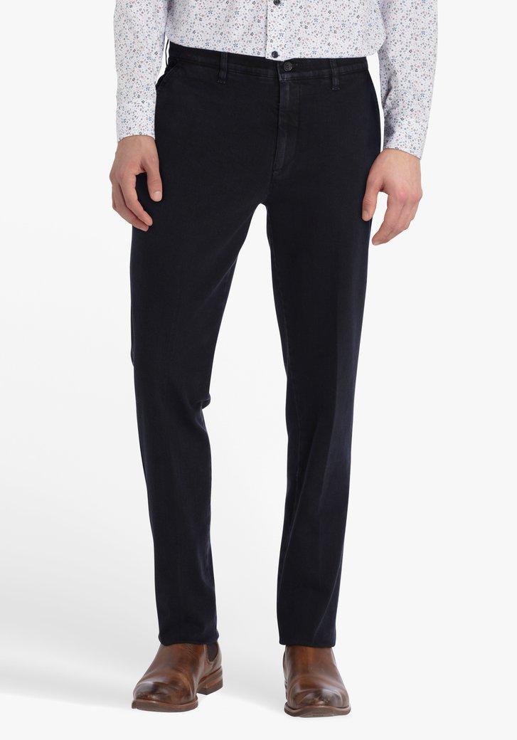 Chino bleu foncé avec look jean - straight fit