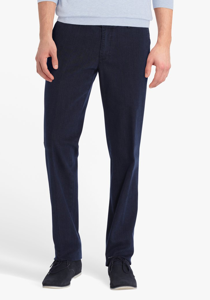 Chino denim bleu - Luc - regular fit