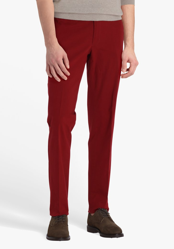 Chino jaune rouge foncé - Louisiana - regular fit