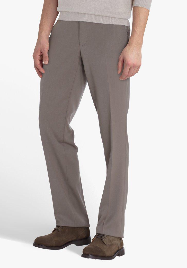 Chino taupe - Louisiana - regular fit marron, Hommes, Brassville