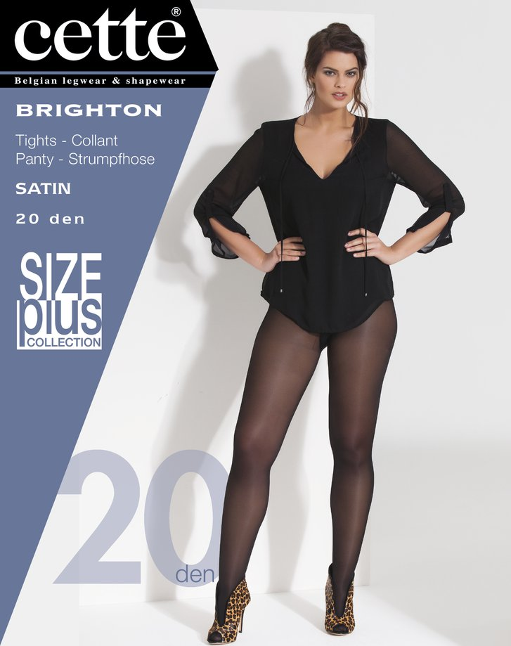 Chocoladebruine panty Brighton bruges - 20 den Dames, merk: Cette
