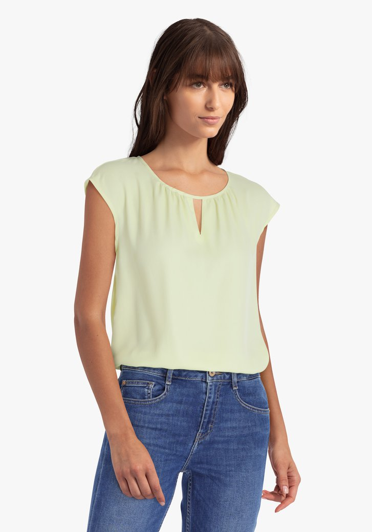 Citroengele blouse