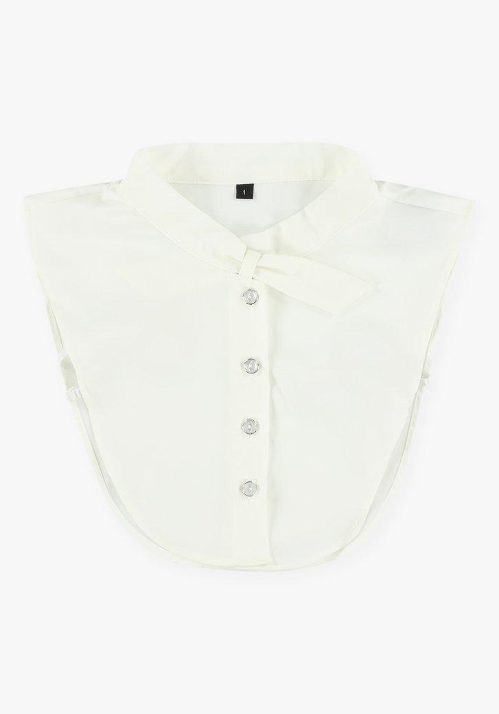 Col de chemise blanc avec ruban de détail