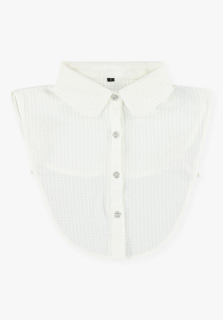 Col de chemise texturé blanc