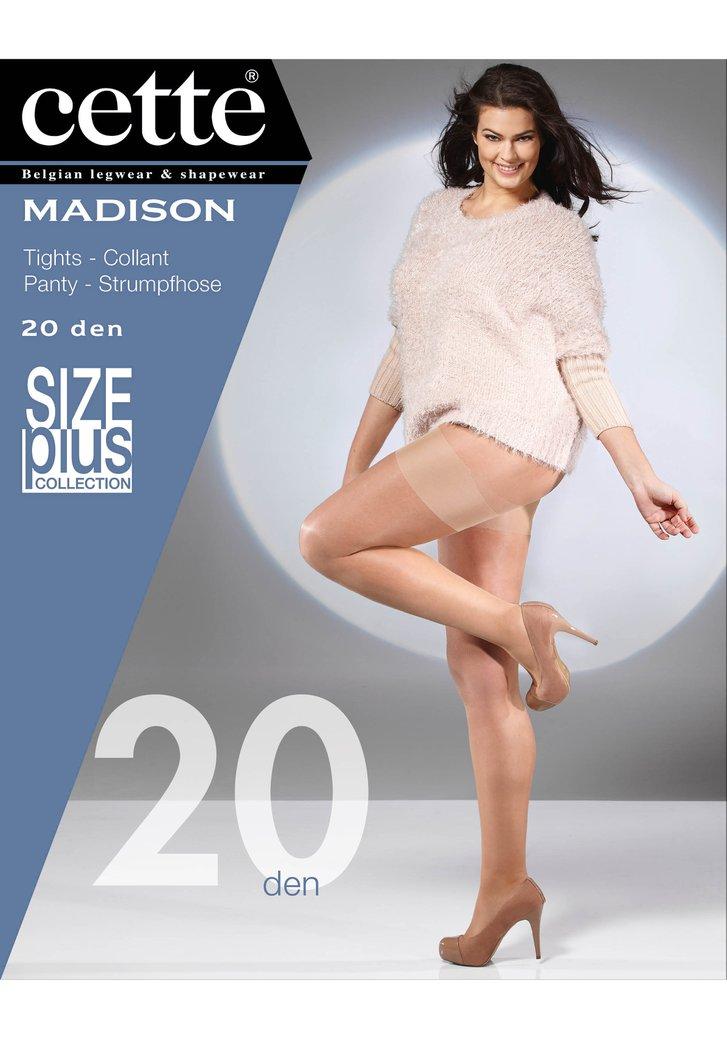 Collant brun - taille plus size Madison - 20 den