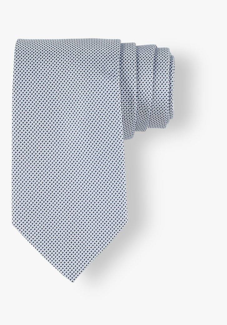 Cravate avec motif miniature dans les tons bleus