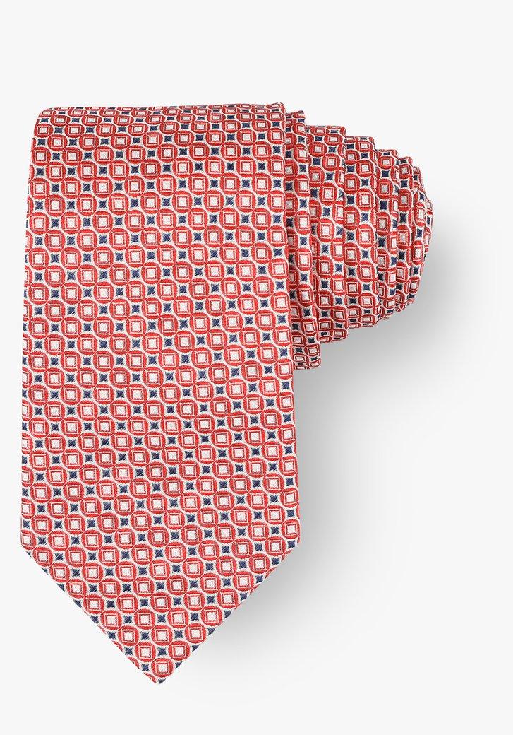 Cravate avec motif rouge-bleu
