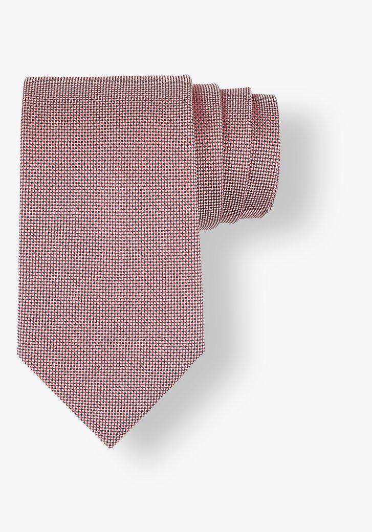 Cravate avec petit motif en rouge et bleu