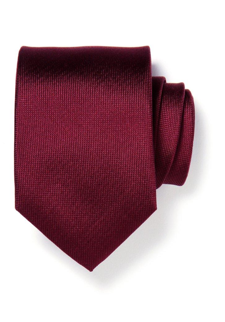 Cravate bordeaux en soie