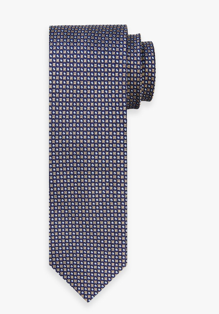 Cravate en soie avec motif bleu-or
