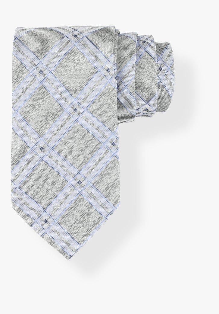 Cravate grise à carreaux