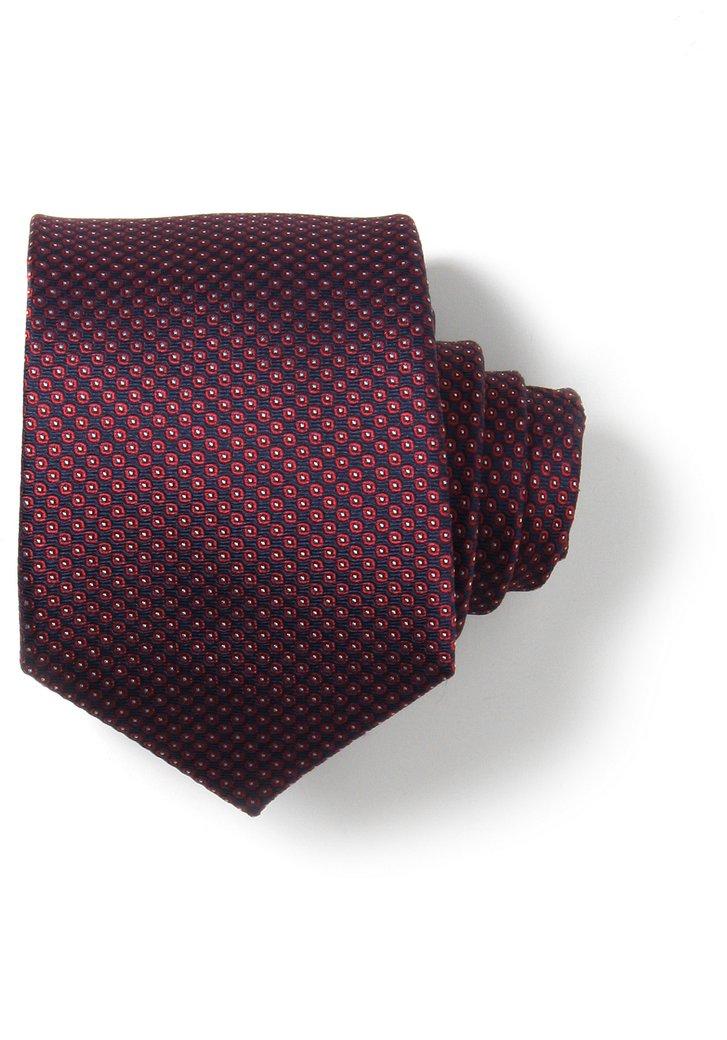 Cravate rouge avec fin motif