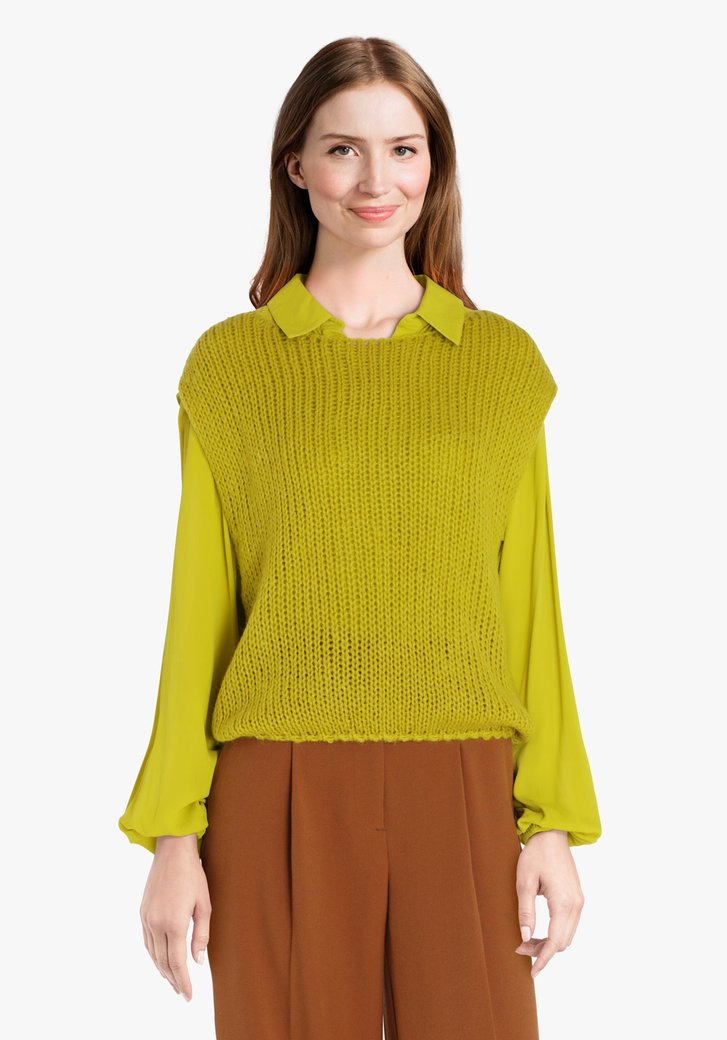 Débardeur vert en tricot