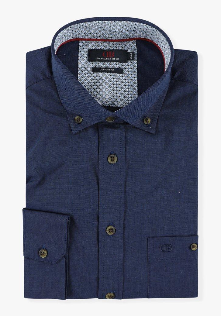 Donkerblauw hemd - comfort fit
