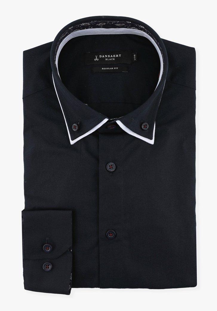 Donkerblauw hemd - regular fit