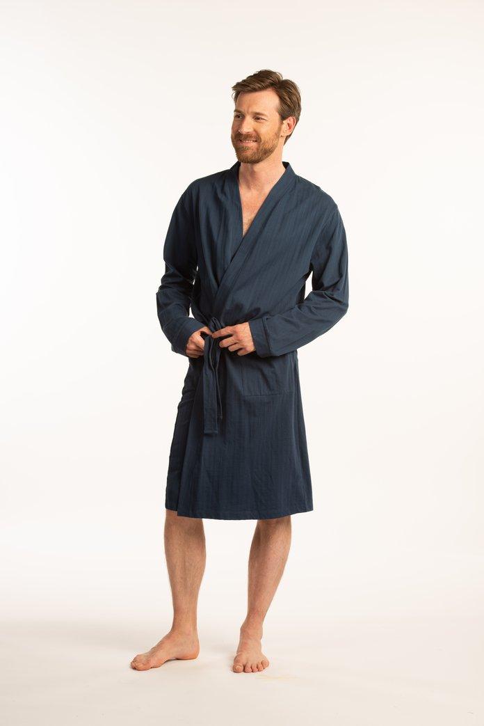 Afbeelding van Donkerblauwe badjas