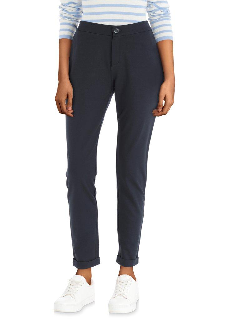 Afbeelding van Donkerblauwe broek met achterzakken