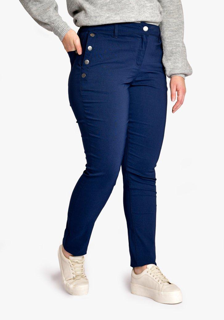 Donkerblauwe broek - slim fit