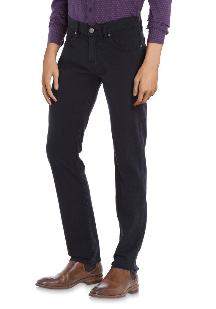 Donkerblauwe broek - straight fit