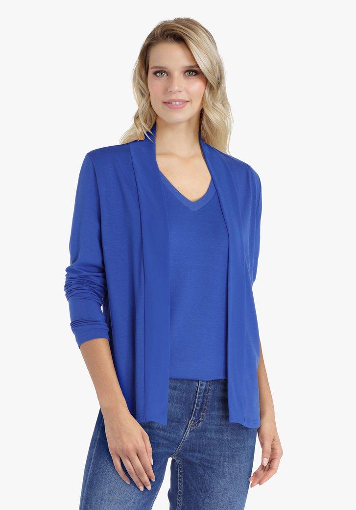 Donkerblauwe cardigan