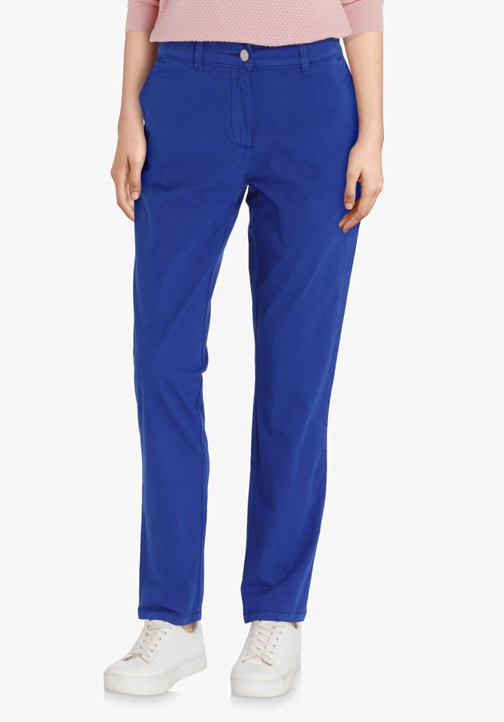 Donkerblauwe chino – slim fit